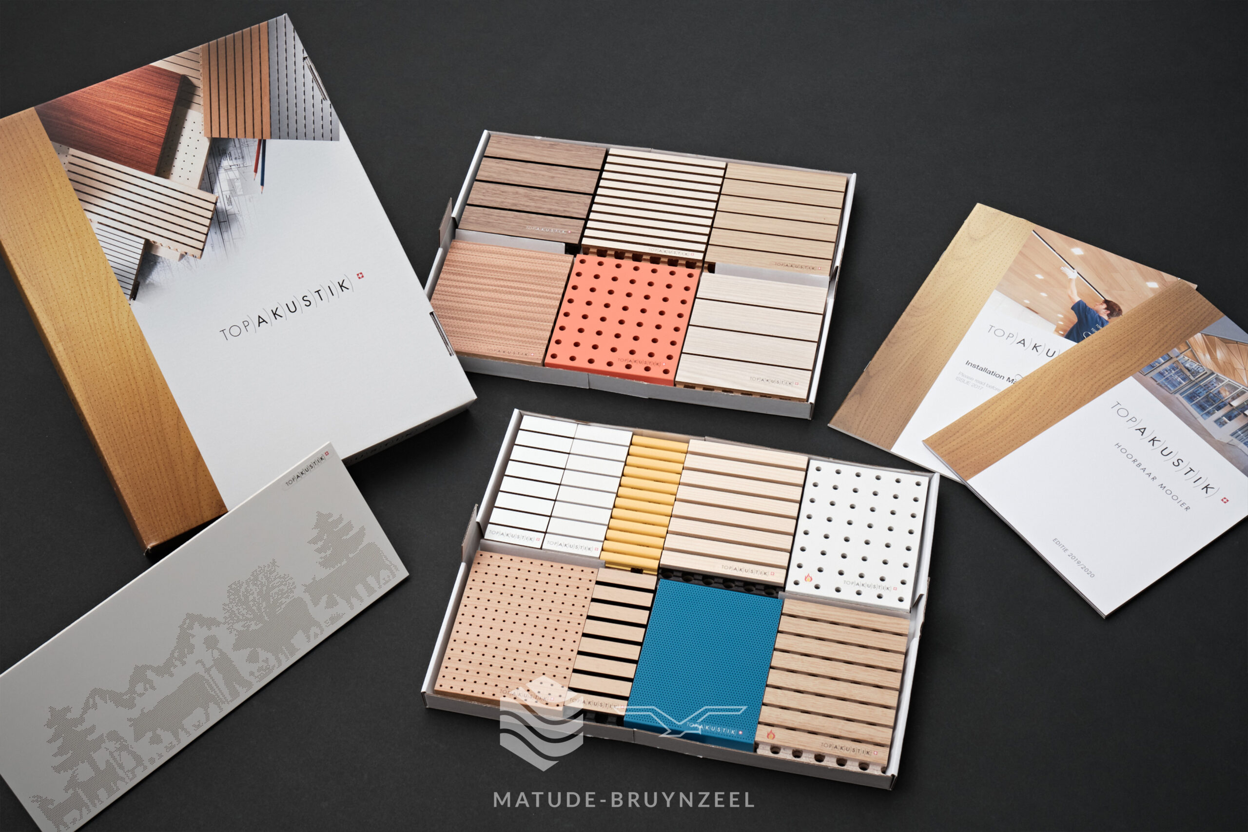 TopAkustik samplebox + productdocumentatie