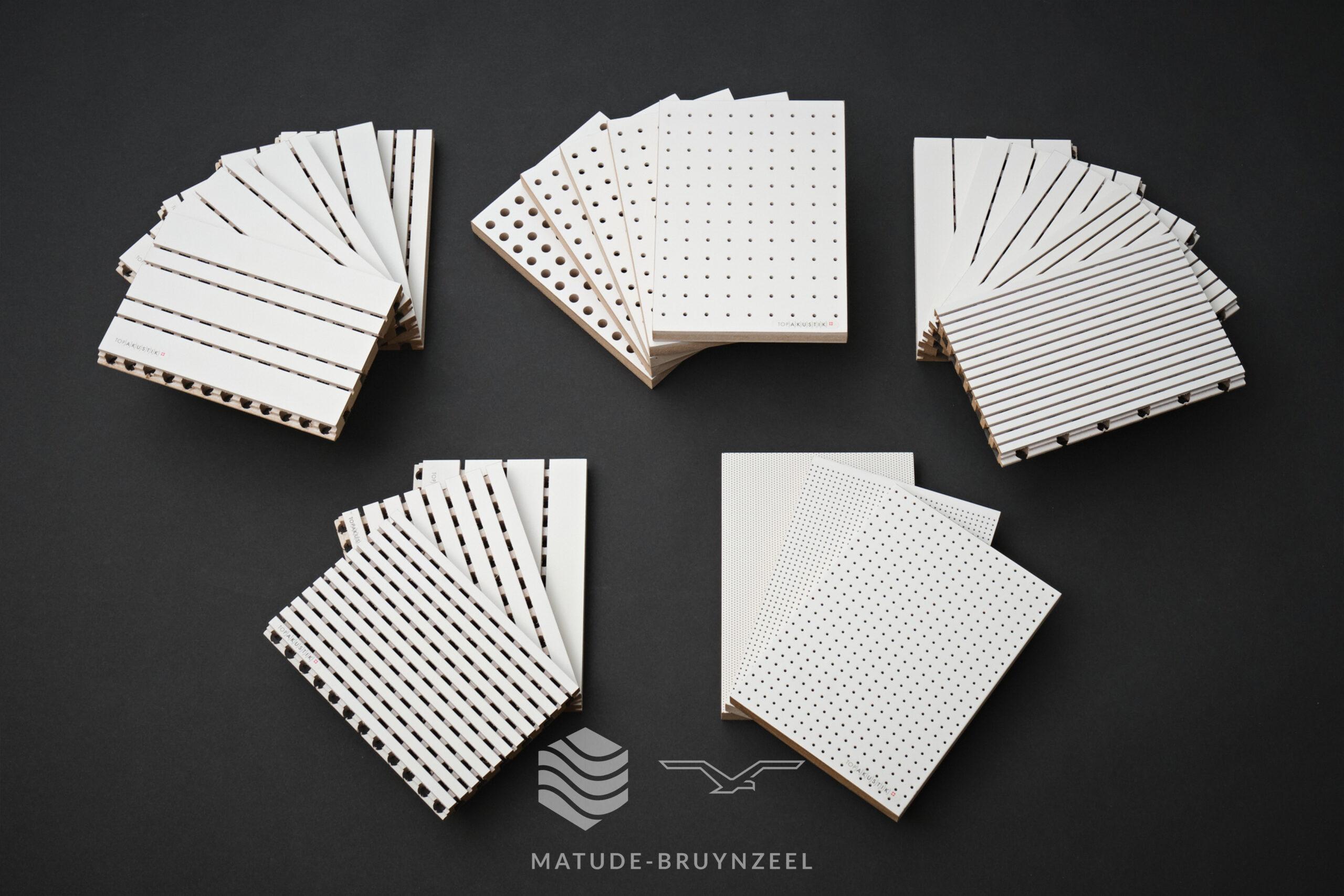 TopAkustik beschikbare wit gelakte samples